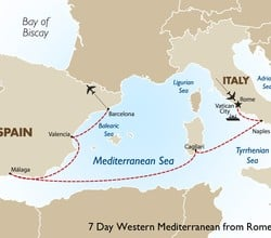 7 Night Western Mediterranean Cruise: Rome to Barcelona