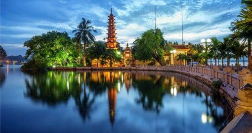 Conclude your Vietnam tour in Hanoi with a visit to the Tran Quoc Pagoda
