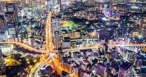 Enjoy Tokyo's view at night on your next Japan vacations.