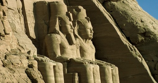 The gigantic statues of Abu Simbel are a great photo opportunity while on your Egypt vacation.