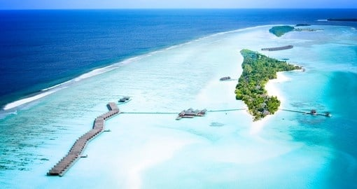 An Aerial View Of LUX Resort Maldives