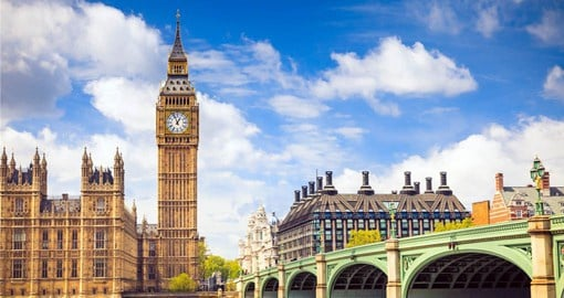 A visit to Big Ben and the Houses of Parliament is one of the many things to do in London