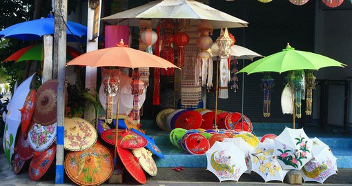 Visit the Umbrella shops of Chiang Mai as part of your Thailand Vacation