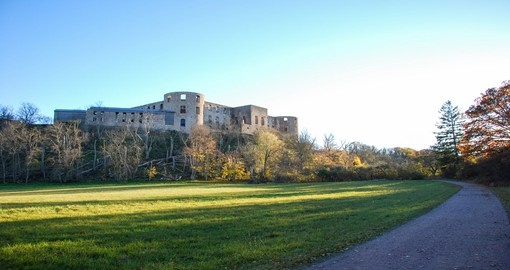 The beautiful Borgholm Castle in Sweden