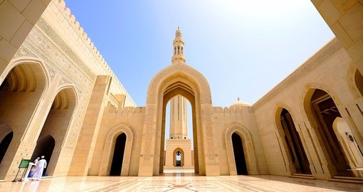 Discover the Grand Mosque Gate in Muscat during your next Oman vacations.
