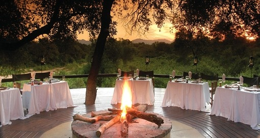 Experience Boma Dinner on your next stay at Kuname River Lodge during your next trip to South Africa.