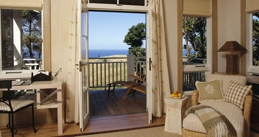 Enjoy all the amenities of The Lodge at Kauri Cliffs during your next trip to New Zealand.