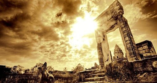 Tour the Desolate ruins at Angkor Wat on your Cambodia Vacation