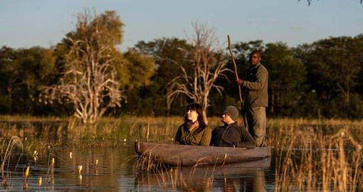 Enjoy mokoro (dugout canoe) excursions at Sable Alley