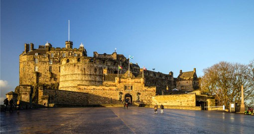 Edinburgh Castle, once home to Mary Queen of Scots
