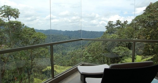 Enjoy the views over the cloud forest on your trip to Ecuador