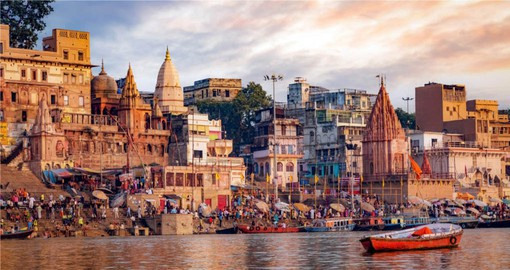 Built of the banks of the Ganges, Varanasi is one of the world's oldest cities