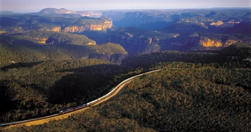 Indian Pacific Train travelling through the countryside