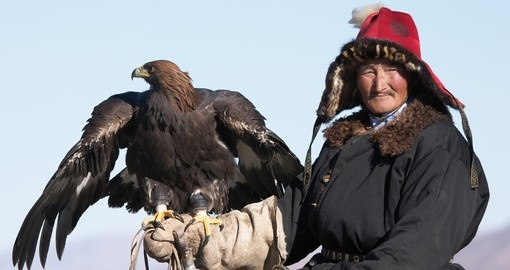An eaglehunter with his golden eagle