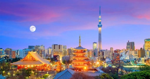Prior to 1868, Tokyo was known as Edo, which became Japan's political center in 1603