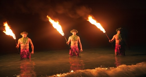 Three Maui Fire Dancers