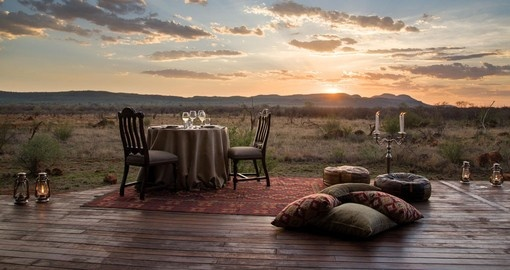 Madikwe Hills sunset dinner