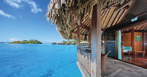 Experience the sensation of waking up in the morning to the open blue ocean during your Tahiti Vacation.