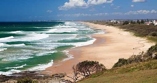 A visit to Caloundra Beach on the Sunshine Coast is a great addition to your Australia vacation.