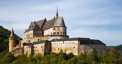 Medieval Castle in Vianden would be a popular inclusion on your Luxembourg vacation.