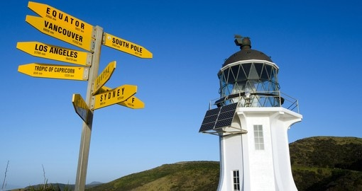 Cape Reinga lighthouse at the edge of the Northland