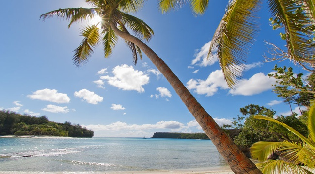 Beachside view of Tonga