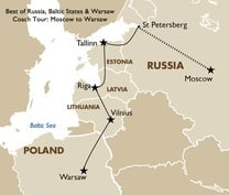 Best of Russia, Baltic States Coach Tour Moscow to Warsaw