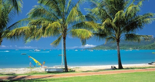Explore the pristine sands of Airlie Beach
