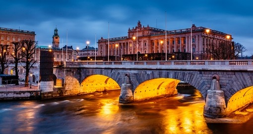 Riksdag building and Norrbro Bridge