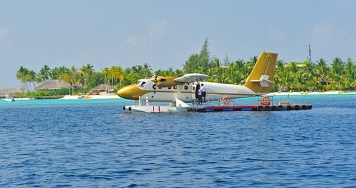 Most transfers in the Maldives are by seaplane