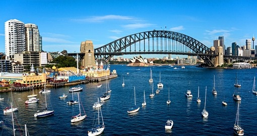Sydney Harbour is the starting point for your cruise in Australia.