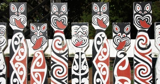 Maori painted decorations