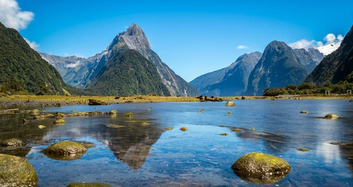 Carved by glaciers during the ice ages, Milford Sound has been referred to as the 'eighth wonder of the world''