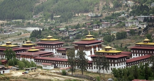 Experience the traditional Trashichhoe dzong on your trip to Bhutan