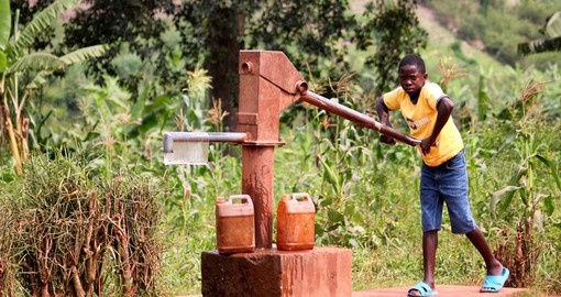 A water well in Kigali