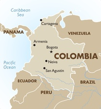 Colombia Destination Map