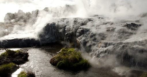 Explore the geothermic area around Rotorua on your New Zealand vacation