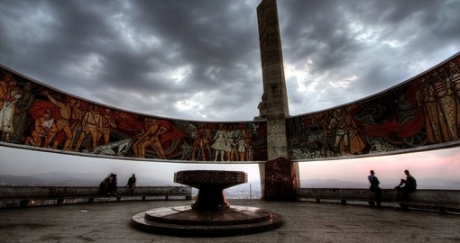 The Zaisan Tolgoi Monument for Soviet Military
