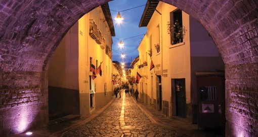 Walk on the streets of Colonial Quito during your next Ecuador vacations.
