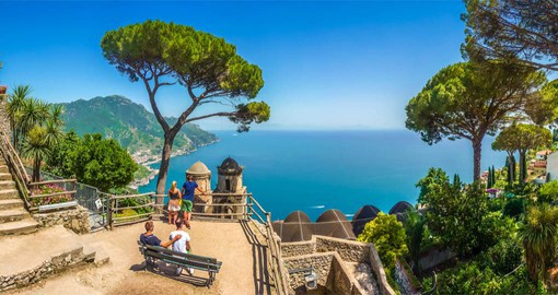 Villa Rufolo Gardens in Ravello overlook the Gulf of Salerno