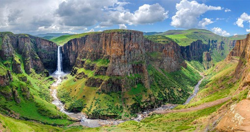 The Maletsunyane Falls in Lesotho are one of the highest waterfalls in Africa and among the most beautiful