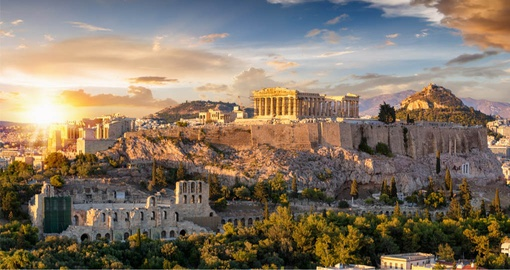 Built in the 5th century BC, the Acropolis is visible from almost every part of Athens