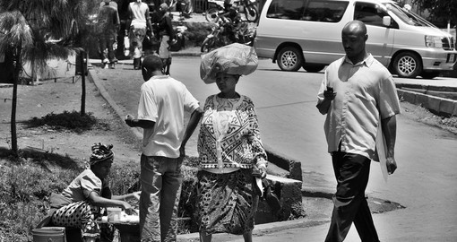 Daily life on the streets of Arusha perhaps many photo opportunities either before or after your Tanzania safari.