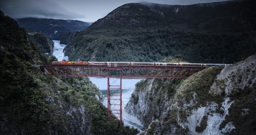 The journey on the Tranz Alpine will be a highlight of your New Zealand Vacation