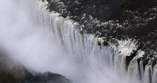 Aerial view of Victoria Falls Livingston Zambia Zimbabwe