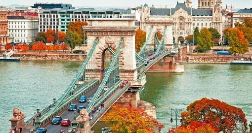 Explore the famous chain bridge in Budapest during your next Hungary tours.
