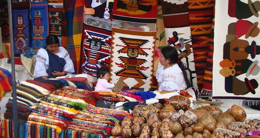 Take one of the many Ecuador Tours throughout Quito to buy some local hand crafted goods