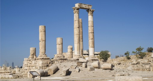 Start your Jordan vacation in Amman with a visit to the Temple of Hercules
