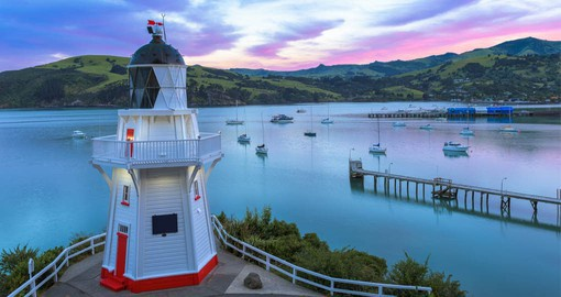 Akaroa is a historic French and British settlement nestled in the heart of an ancient volcano