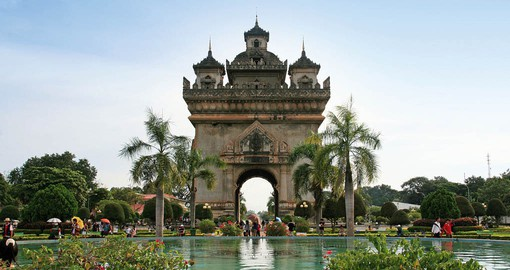 Patuxai is the Arc de Triomphe of Vientiane, capital of Laos